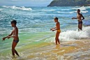 Dominican boys fishing
