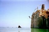 Disembarking the Francisco Morazon