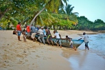 Dominican fishermen arrive home