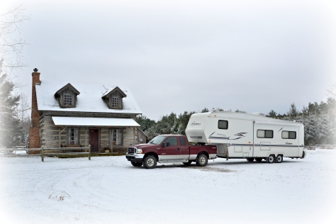 We just brought home our new home-away-from-home... in a snowstorm.