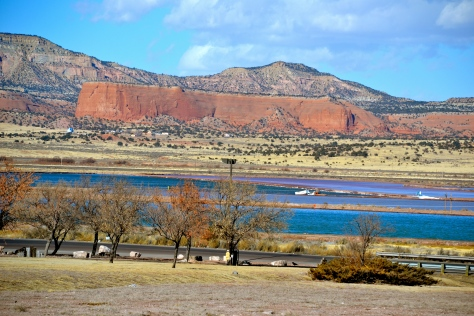 There's lots of red rock to be seen near Gallup, New Mexico.