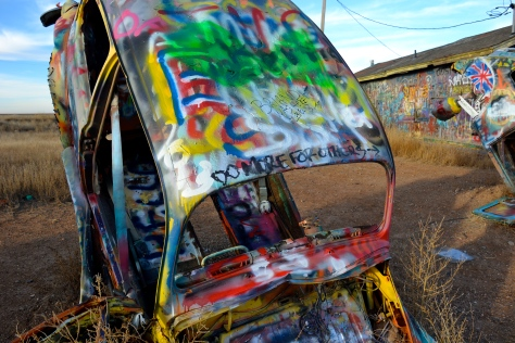"""Do more for others"" at the VW graveyard, Conway, TX"