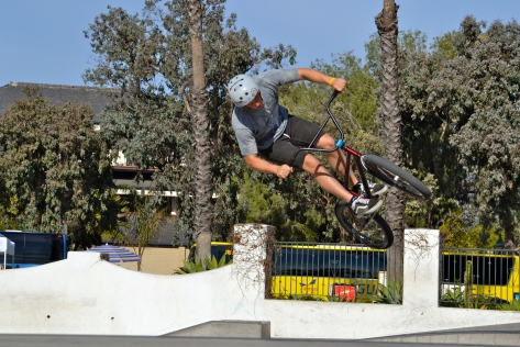 Santa Barbara has a top notch skate park that also accommodates bikers.