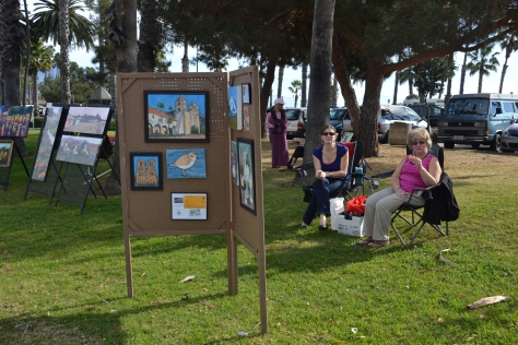 Wendi is a member of the local artists guild and spends her Sundays exhibiting at the waterfront park.