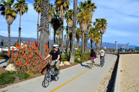 Santa Barbara beach biker/skater trail.