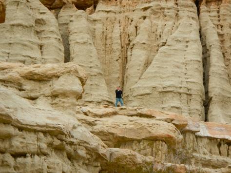 Bob on the rocks at Red Rock Canyon.