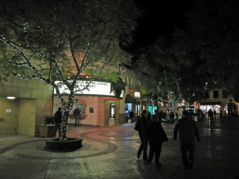 Downtown Santa Barbara is beautiful at night.