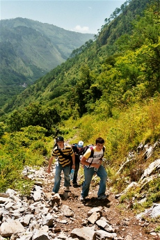 Hiking in the Sierra Madre Mountains in Mexico.