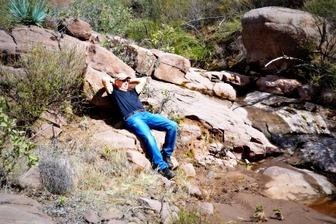 A steep climb up a dry creek bed offered a nice spot for a picnic lunch and a rest.