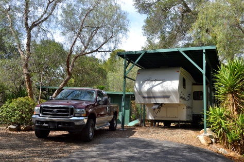 Our work-camp site in California.