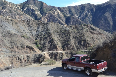 The road into Los Padres National Forest isn't for the timid.