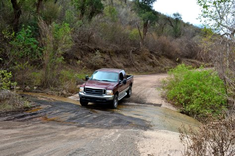 There are a couple of fords above Sespe Creek.  Here's a Ford fording a ford.