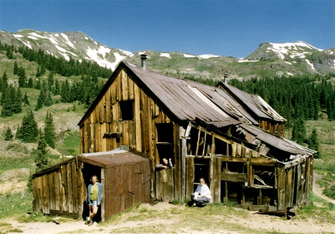 Our three girls explored the ghost town of Red Mountain, Colorado.