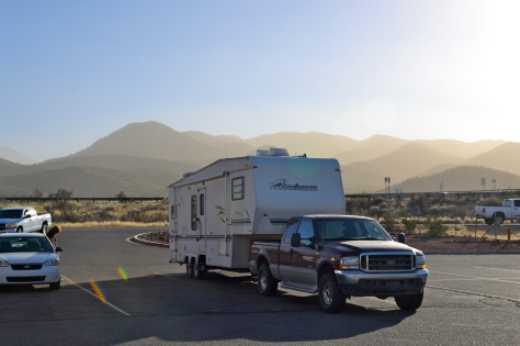 Truck stop parking lots can be welcome places for overnight stays.
