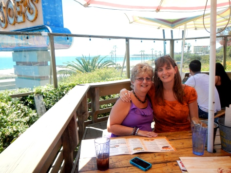 This was our first winter living near our daughter and son-in-law.  Here we are at Joe's Crab Shack, Venture, California.