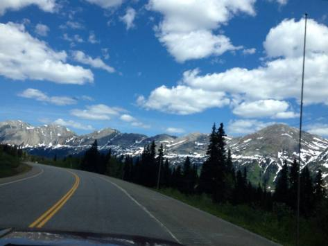 A panorama of the Rocky Mountains we drove around today.
