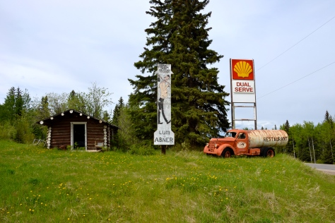 The roadhouses were built to service the traffic along the Alaska Highway in 1942-1943. The one at Prophet River closed many years ago.