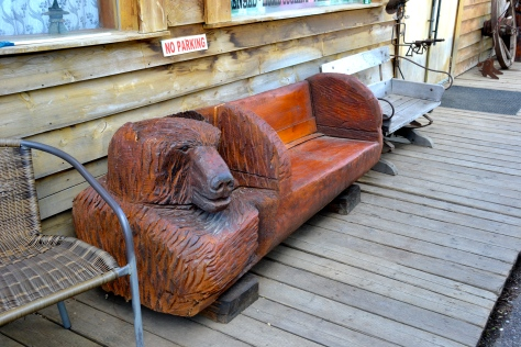 Log Bear Bench