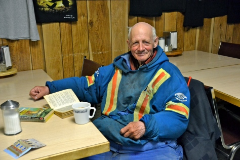 Alfred, born in Texas, was perpetually cycling the Alaska Highway, at 71 years old sometimes pedaling all night to reach the next outpost.