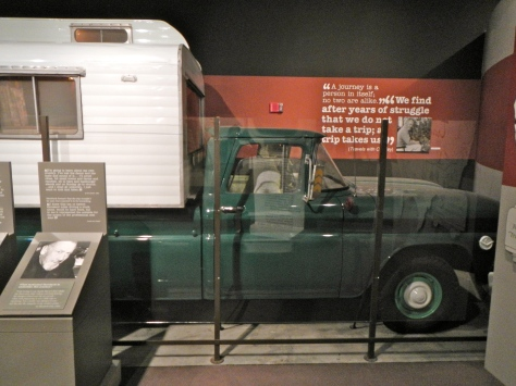 Steinbeck's pickup camper, Rocinante, at the Steinbeck Center in Salinas, CA