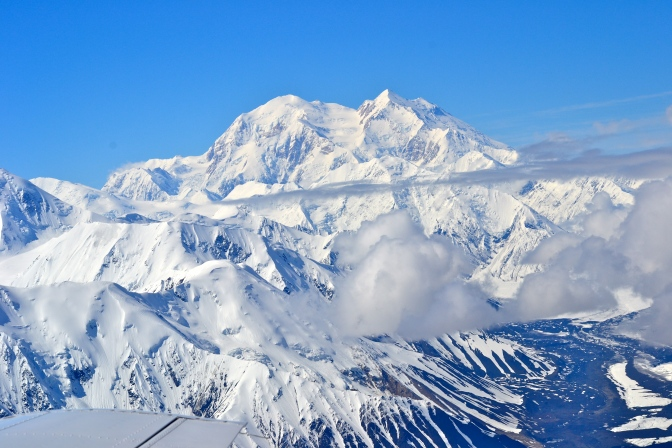 Rock and Snow – Mt. McKinley Fly-By