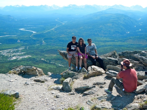 Climbers at the Mt. Healy summit