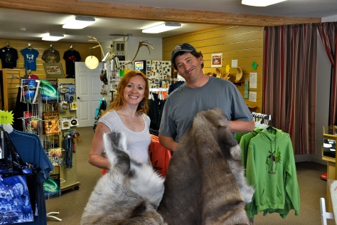 Shop owners Andrea and Brandon are from Anchorage and Michigan but now spend their winters in Arizona.