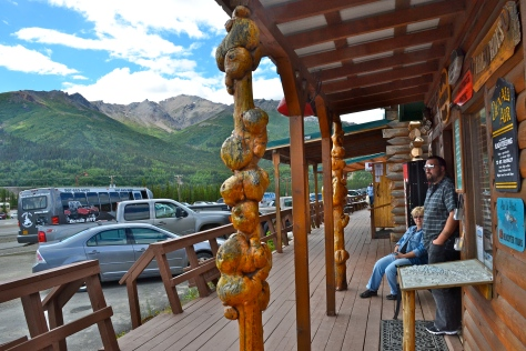 Scott enjoys the view of McKinley Park and Mt. Healy from the front door of Denali Adventure Tours.