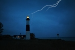 Big Sable Point Lighthouse looks foreboding in a storm. Is it really haunted?
