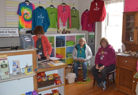 Resident volunteers run the gift shop and museum for visitors inside the historical keepers house.