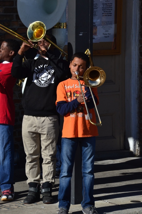 This 12-year-old was a spirited trombonist.