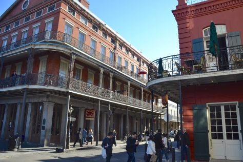 The French Quarter is known for its porch-lined buildings the reflect the traditions of the old country.