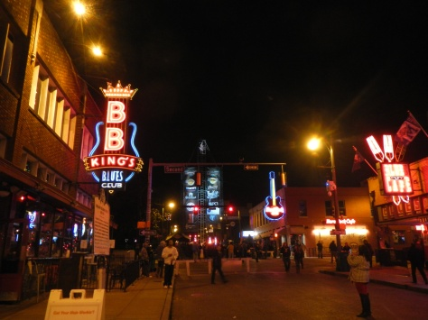 Outside B.B. King's Blues Club the street was starting to fill with party-goers who were waiting for the midnight Guitar Drop.