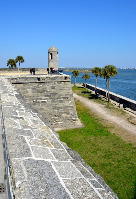 Castillo de San Marcos sits on the waterfront downtown.