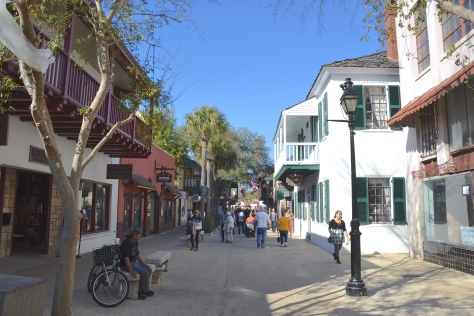 St. George Street is now a shop-lined attraction for walkers only.
