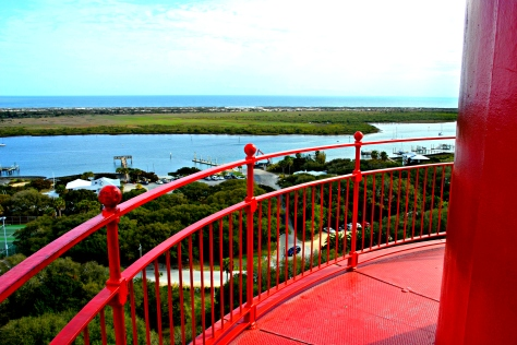 The tower climb offers a rewarding view of the surrounding city and waterfront.