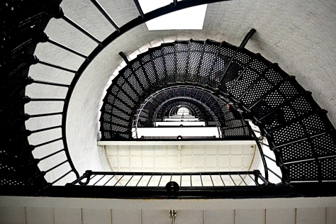 Only the young and most physically fit will make quick work of the 216 steps to the top of the lighthouse.