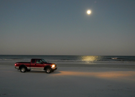 4X4's are permitted to drive on the beach for ten-mile stretch.