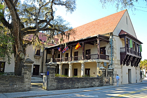 Many of the original buildings - like the old governor's house - were built with coral stone.