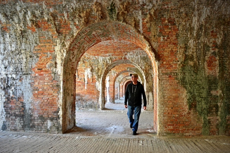 I loved the endless vaulted casements of Fort Morgan and the mineral deposits built up by the chemical action of rainwater percolating through the brick and mortar.