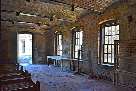 Though the interior buildings were burned during the Battle of Mobile Bay, the restorers have done a great job of rebuilding.