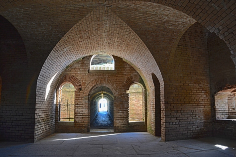 The bricklayers who built these forts were masters of their craft as seen in the intricately vaulted arches.