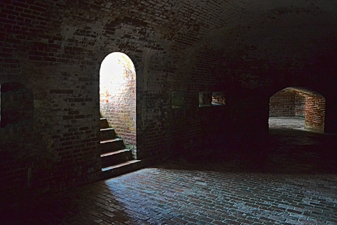 The arches and hidden stairways create interesting scenes as the light plays around them.
