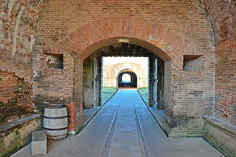 And this view is from the entrance tunnel in the inner fort toward the postern (outer fort).