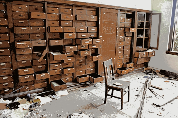 A hundred drawers leave clues to the past educational program.