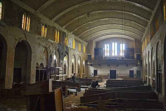 The old sanctuary had seating for over 400 parishioners.