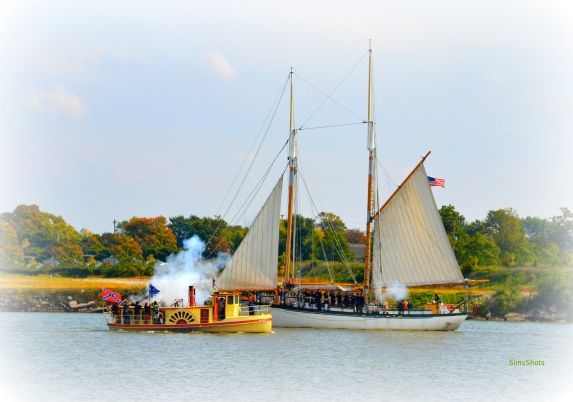 Gun battles extend to the water of the Saginaw River where the boats wage war with each other.