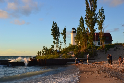 Point Betsie Lighthouse is near the south end of M-22 not far from the port of Frankfort, Michigan.