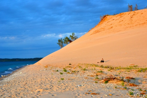 The spectacular sunsets are not lost on the many enthusiasts who show up on the dunes and the beaches every day at sundown.