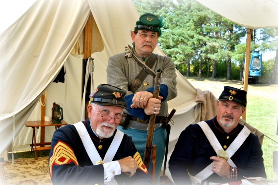 Civil War era soldiers camp every summer at the Octagon Barn Festival.